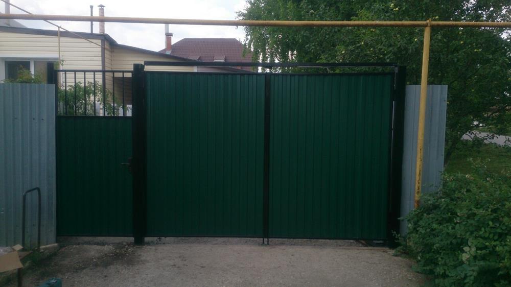 Металлические ворота для гаража в самаре купить гараж в крутых ключах самара